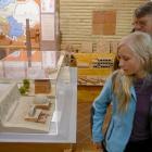 model rímskej tehliarskej pece